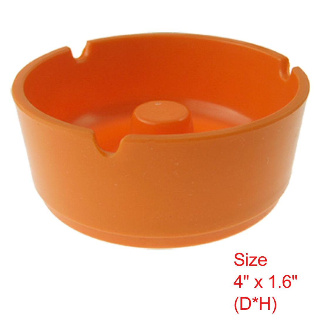 Plastic Round Home Office Cigarette Ashtray Ash Tray Orange