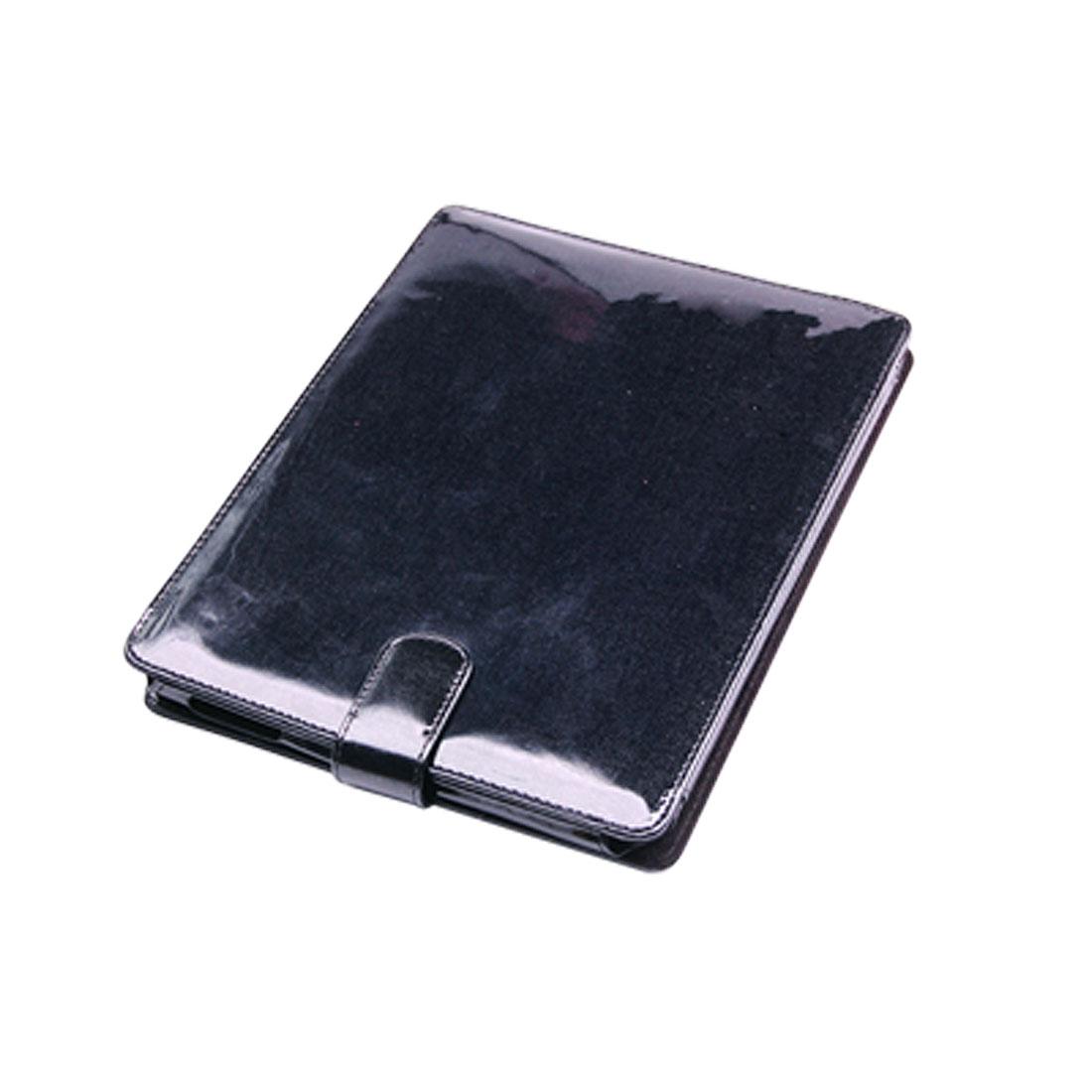 Top Flip Flap Faux Leather Black PC Case for Laptop