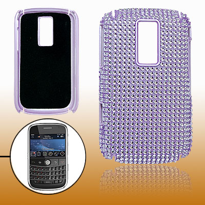 Hard Plastic Beads Coated Case for Blackberry 9000 Purple