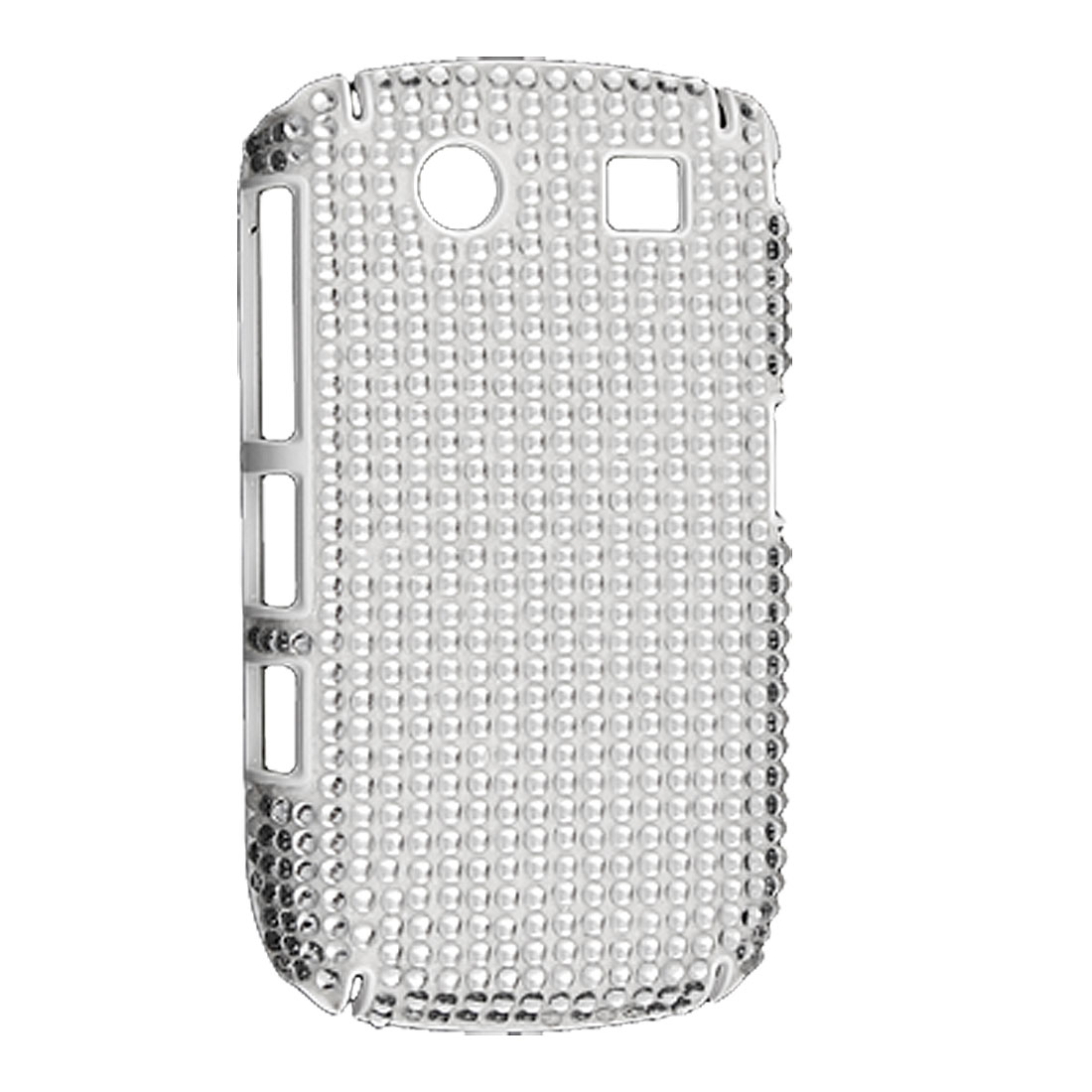Silver Tone Hard Crystal Coated Guard for Blackberry 8900