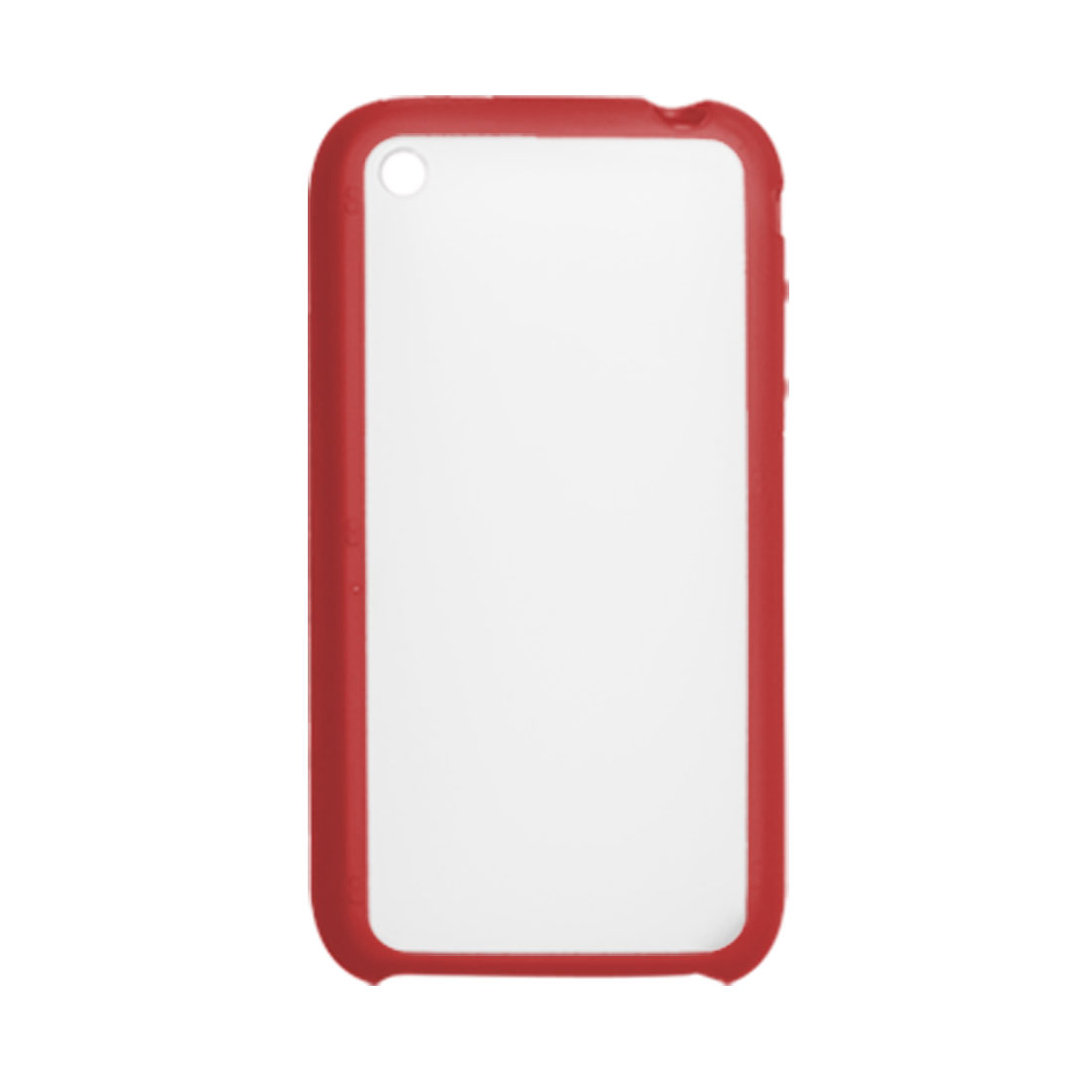Clear Red Plastic Cell Phone Back Case for iPhone 3G