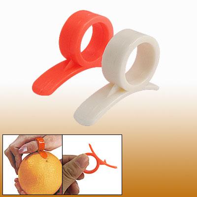 Home Restaurant Plastic Citrus Peeler Handy Kitchen Tool Orange White