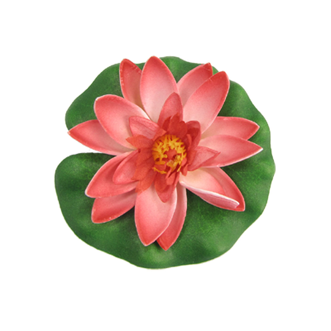 Red Pink Floating Lotus Ornament for Aquarium Fish Tank