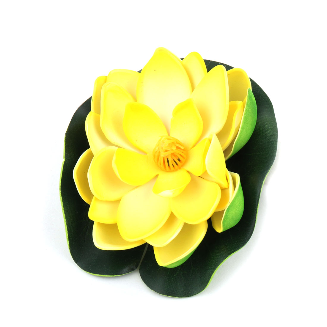 Yellow Floating Lotus Ornament for Aquarium Fish
