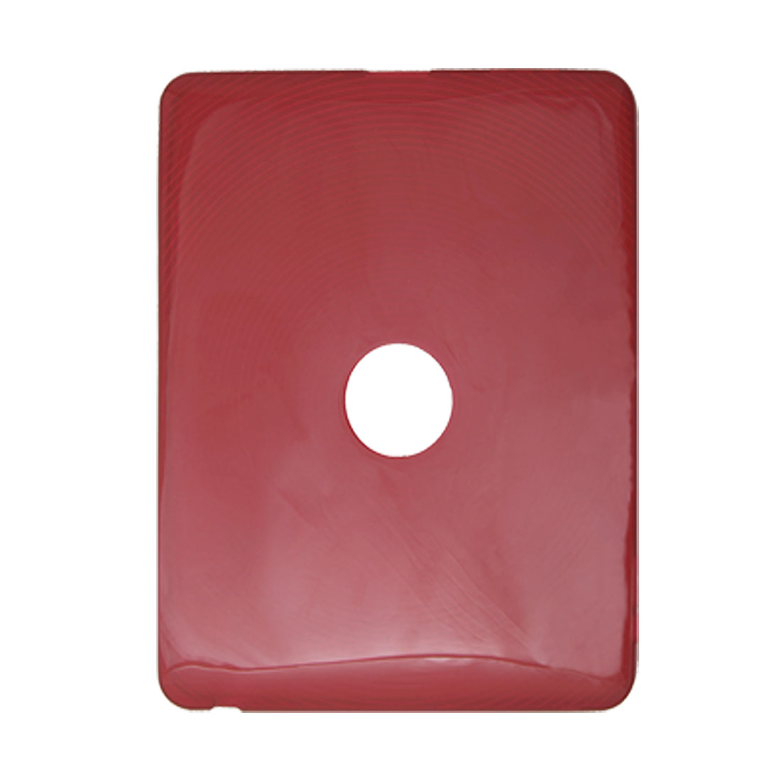 Clear Red Soft Plastic Fingerprint Anti-slip Case for iPad 1