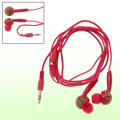 3.5mm Audio Connector Red Cable Basketball Cap Earphones