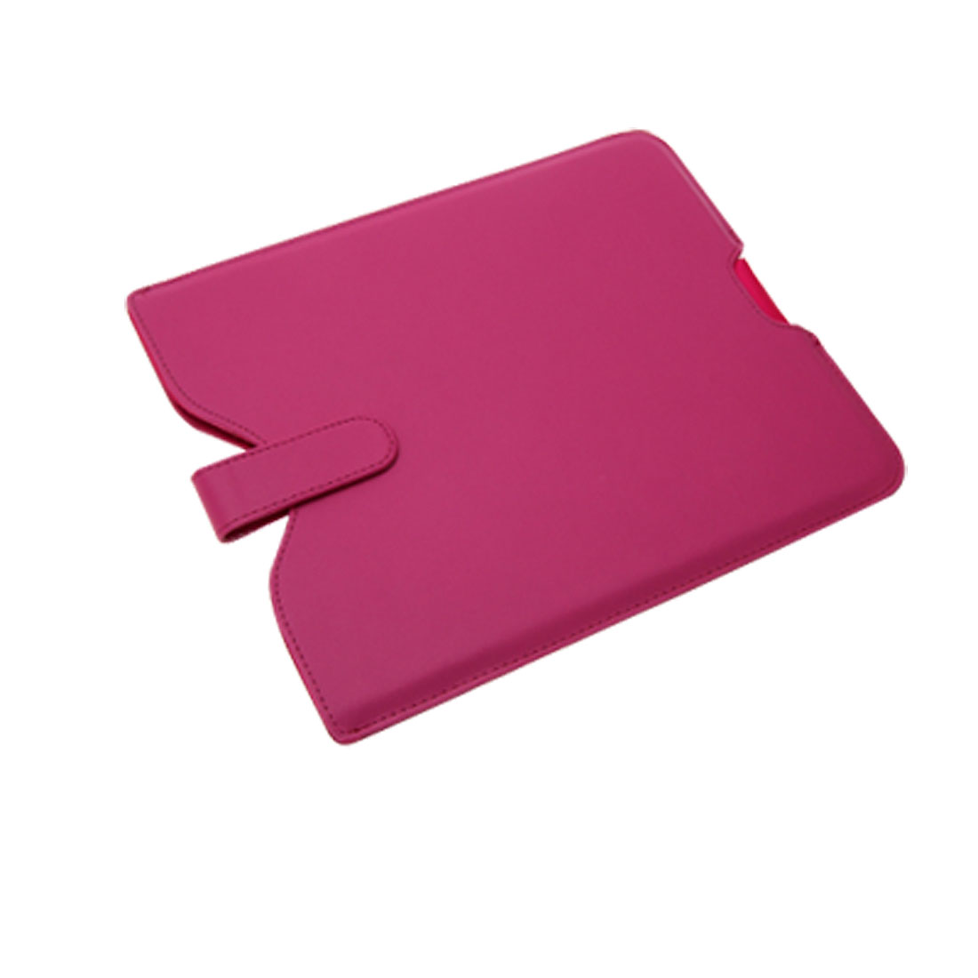 Pink Faux Leather Magnetic Power Button Case Sleeve for iPad 1