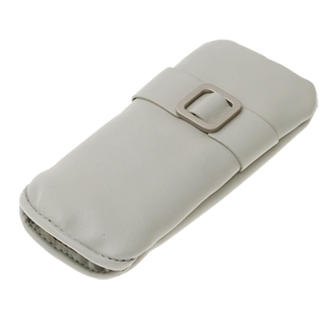 Gray Faux Leather Soft Sleeve Pouch Bag for Nokia 5130