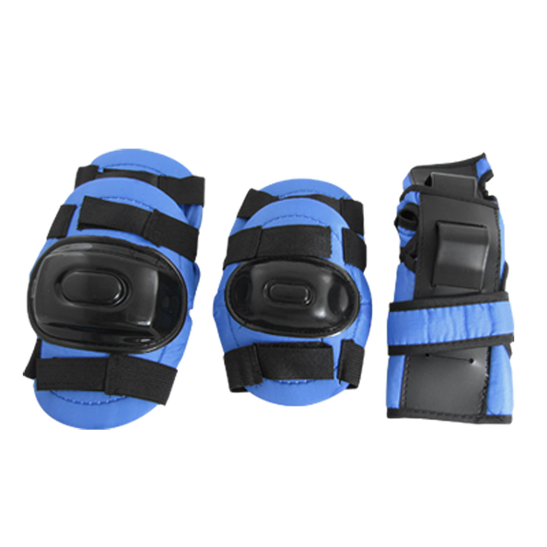 Blue & Black Elbow Knee Wrist Support Sports Protector Set