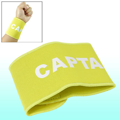 Hook and Loop Fastener Closure Wrist Brace Protector Sport Support Yellow for Adult
