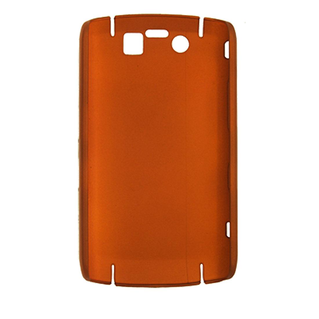 Orange Red Rubberized Hard Plastic Back Case for Blackberry 9520
