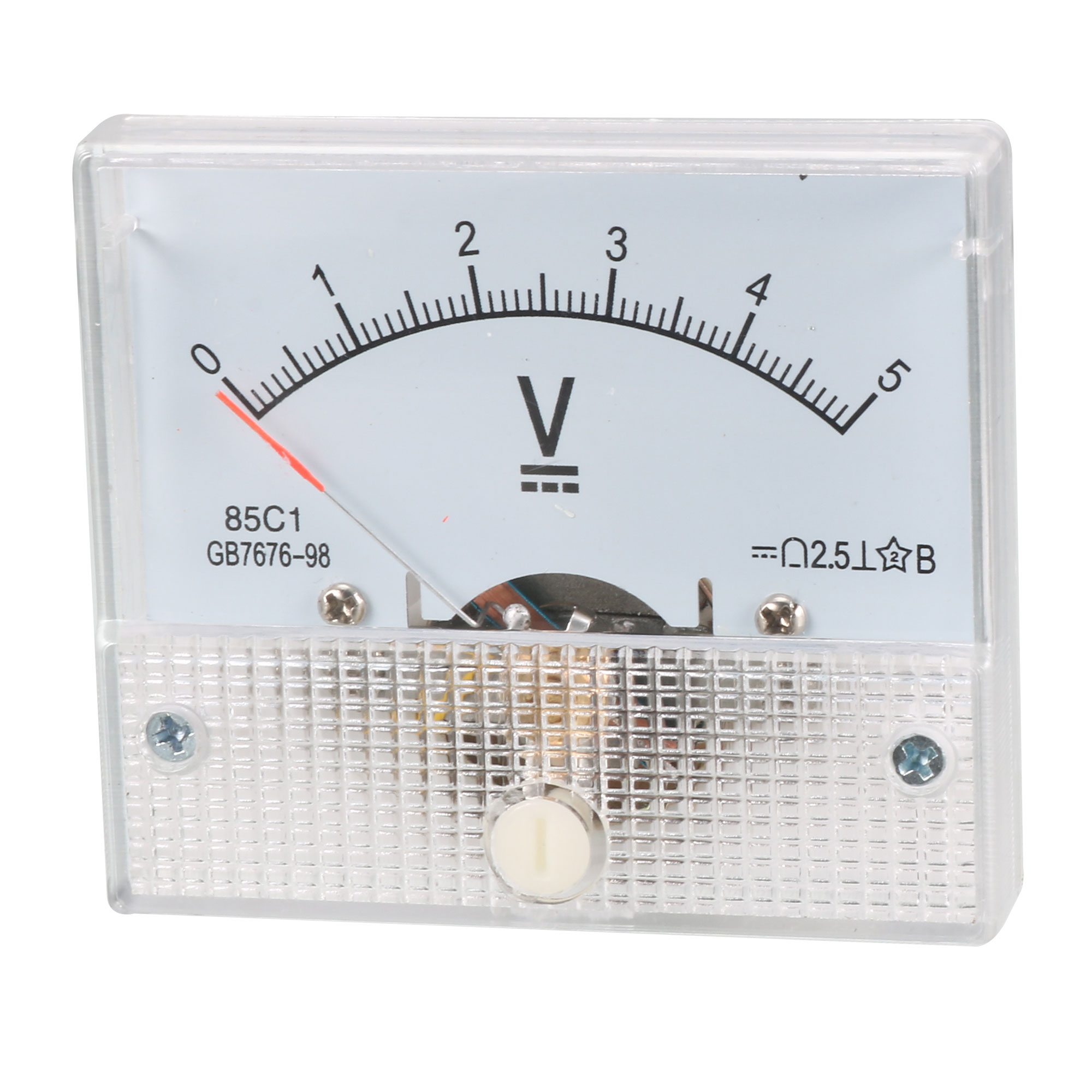 Direct Current 0-5 Volt Voltmeter Analog Panel Meter