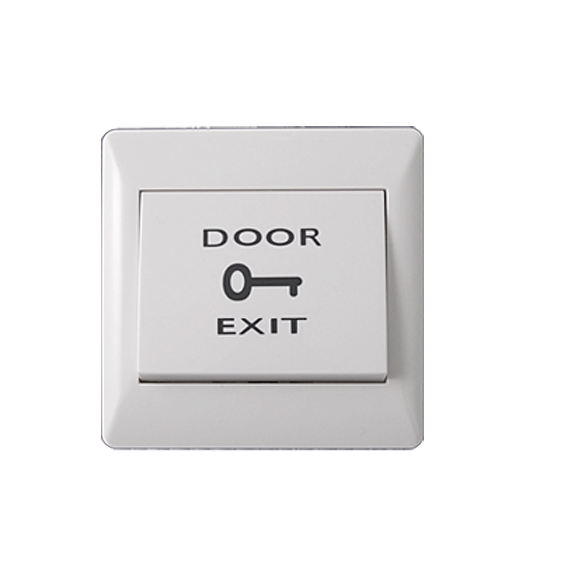 White Electronic Door Exit Push Strike Button Panel