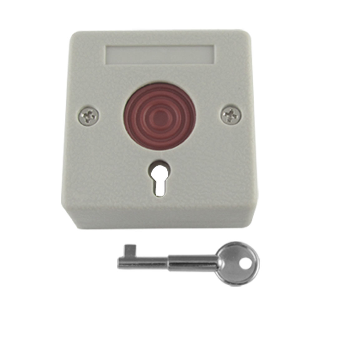 DC 12V Square Home Office Emergency Panic Button Ash-colored