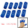 10 Pcs Finger Sleeve Stretchy Sport Protection Blue