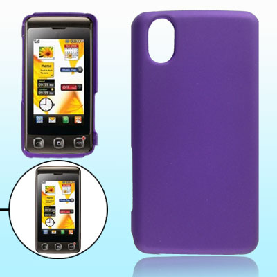 Purple Rubberized Hard Plastic Case Cover for LG KP500 550 570