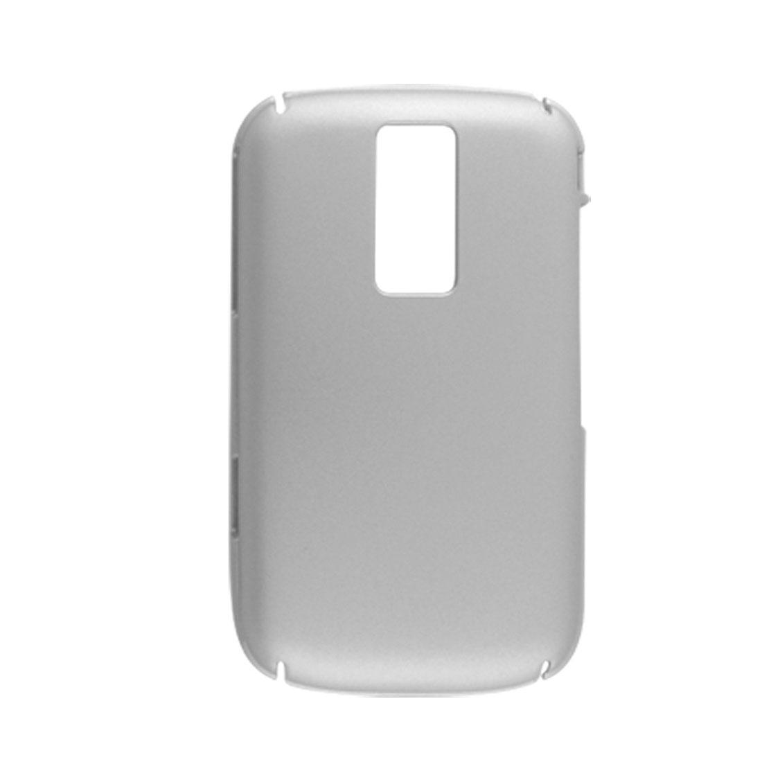 Silver Tone Rubberized Hard Plastic Back Case for Blackberry 9000