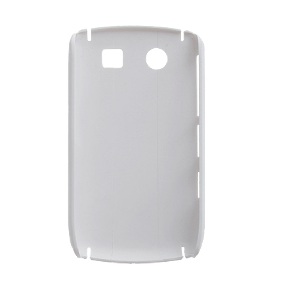 Rubberized White Hard Plastic Back Case for Blackberry 8900