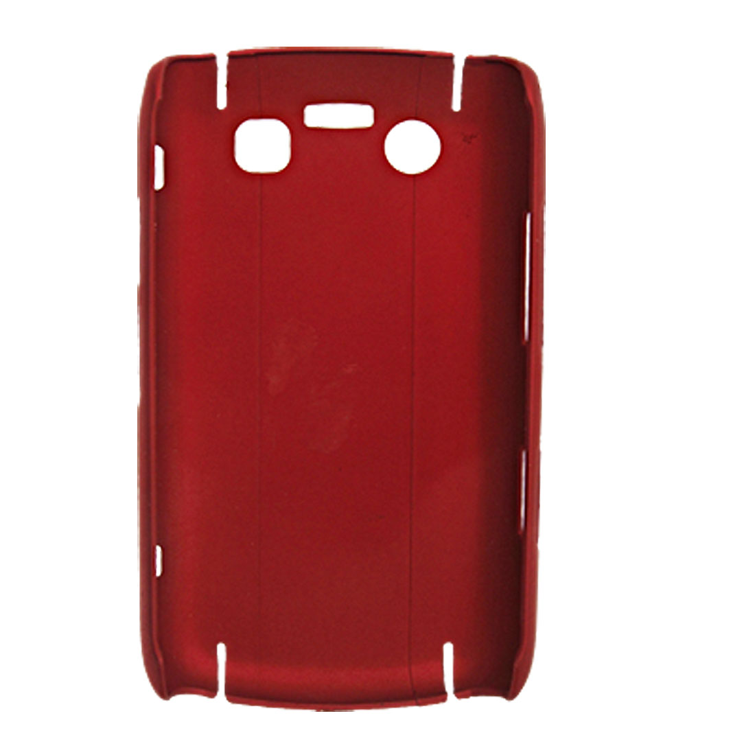 Dark Red Rubberized Hard Plastic Back Case for Blackberry 9700