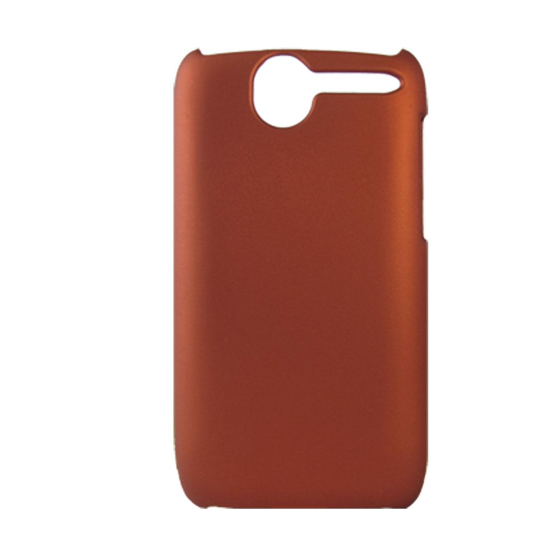 Orange Red Rubberized Hard Plastic Case Shield for HTC Desire