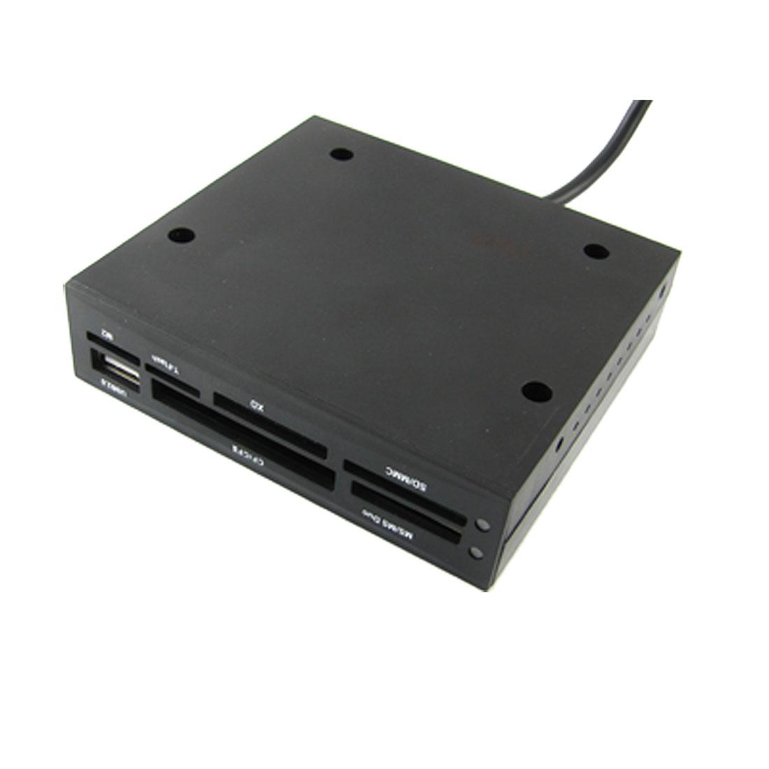 Black Square USB 2.0 Internal Card Reader Writer