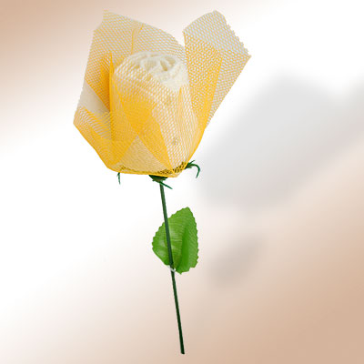 White Rose Appearance Square Face Hand Wash Cloth Towel