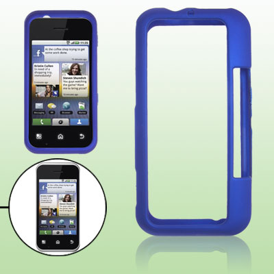 Hard Plastic Rubberized Blue Case Cover for Motorola MB300