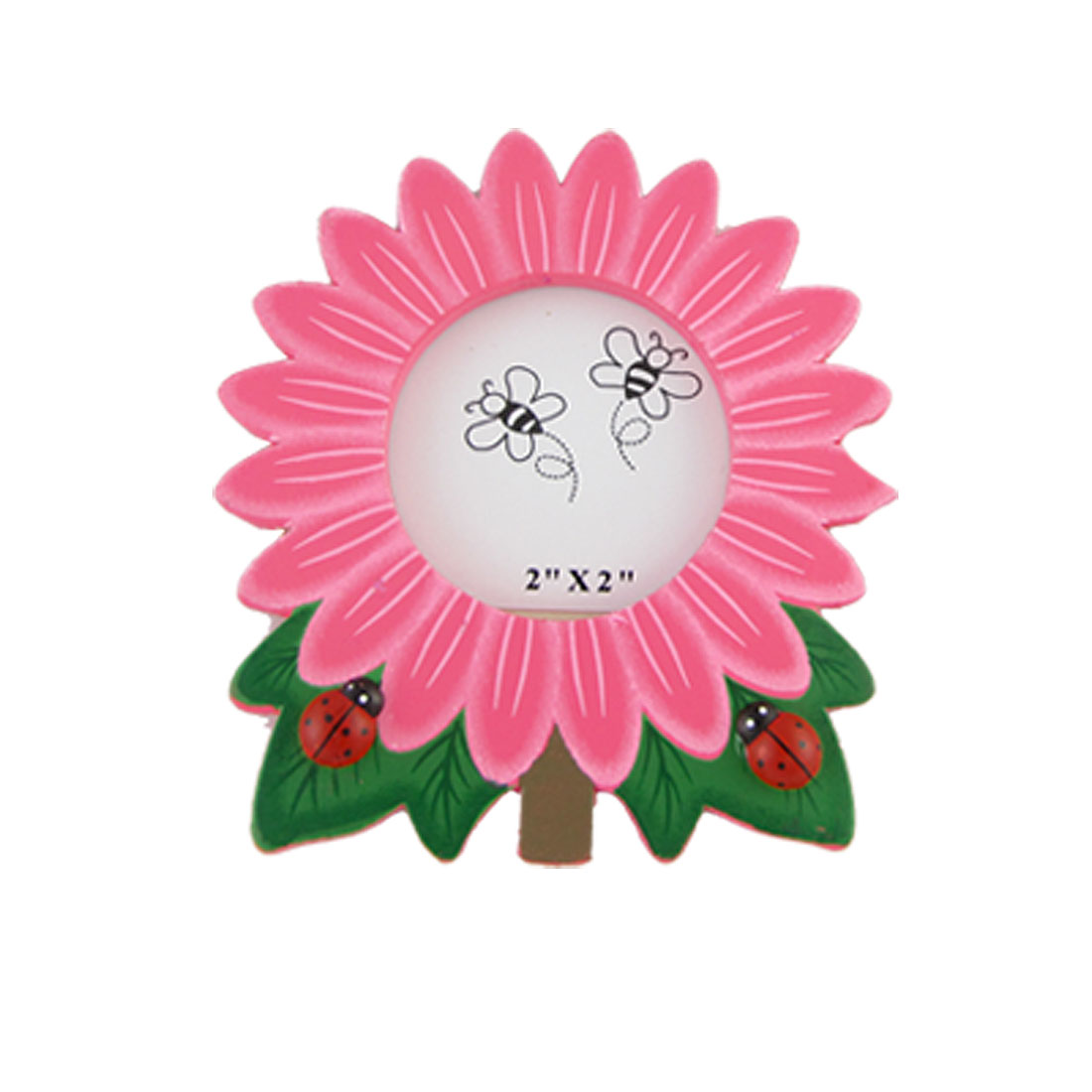 Cartoon tyle Pink Sunflower Wooden Photo Frame Ornament