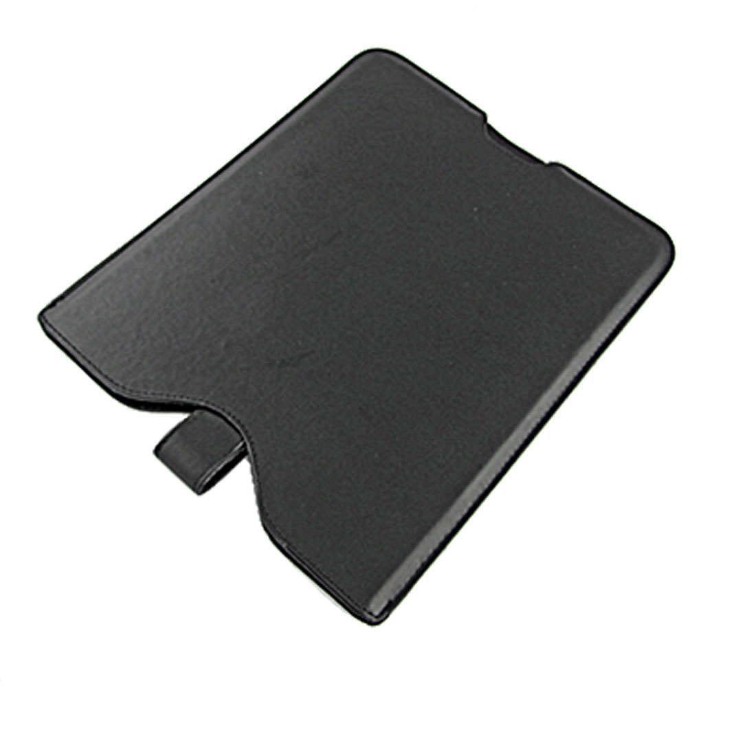 "10"" Black Faux Leather Pull Up Magnetic Flip Sleeve Pouch for Laptop"