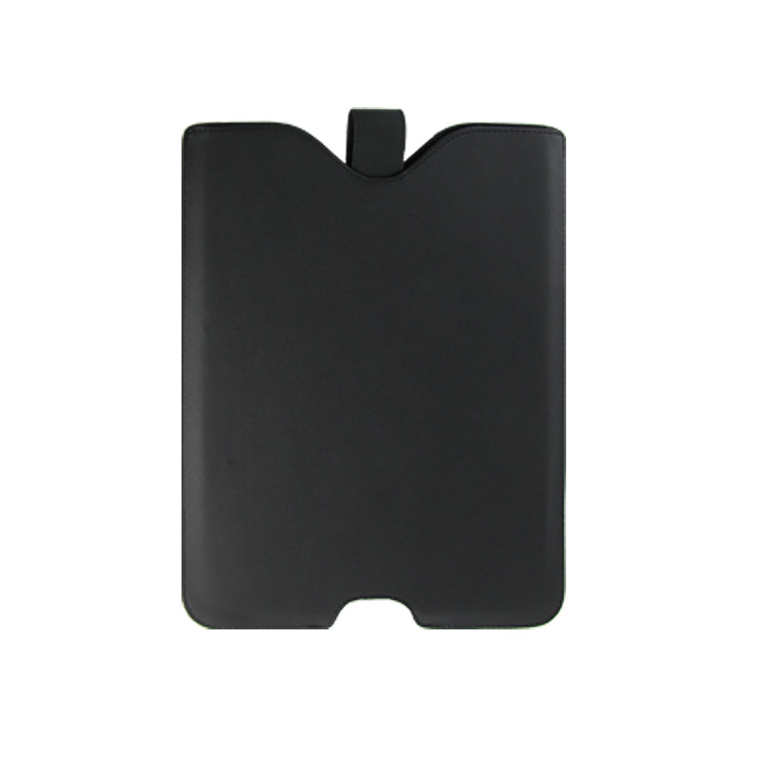 Black Faux Leather Magnetic Button Case Shell for iPad 1