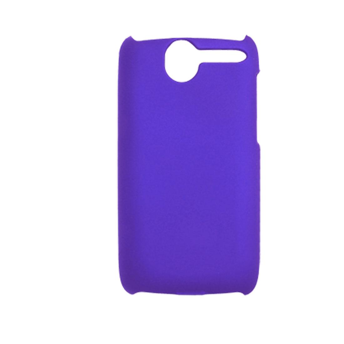 Rubberized Plastic Back Shield Case Blue for HTC Desire