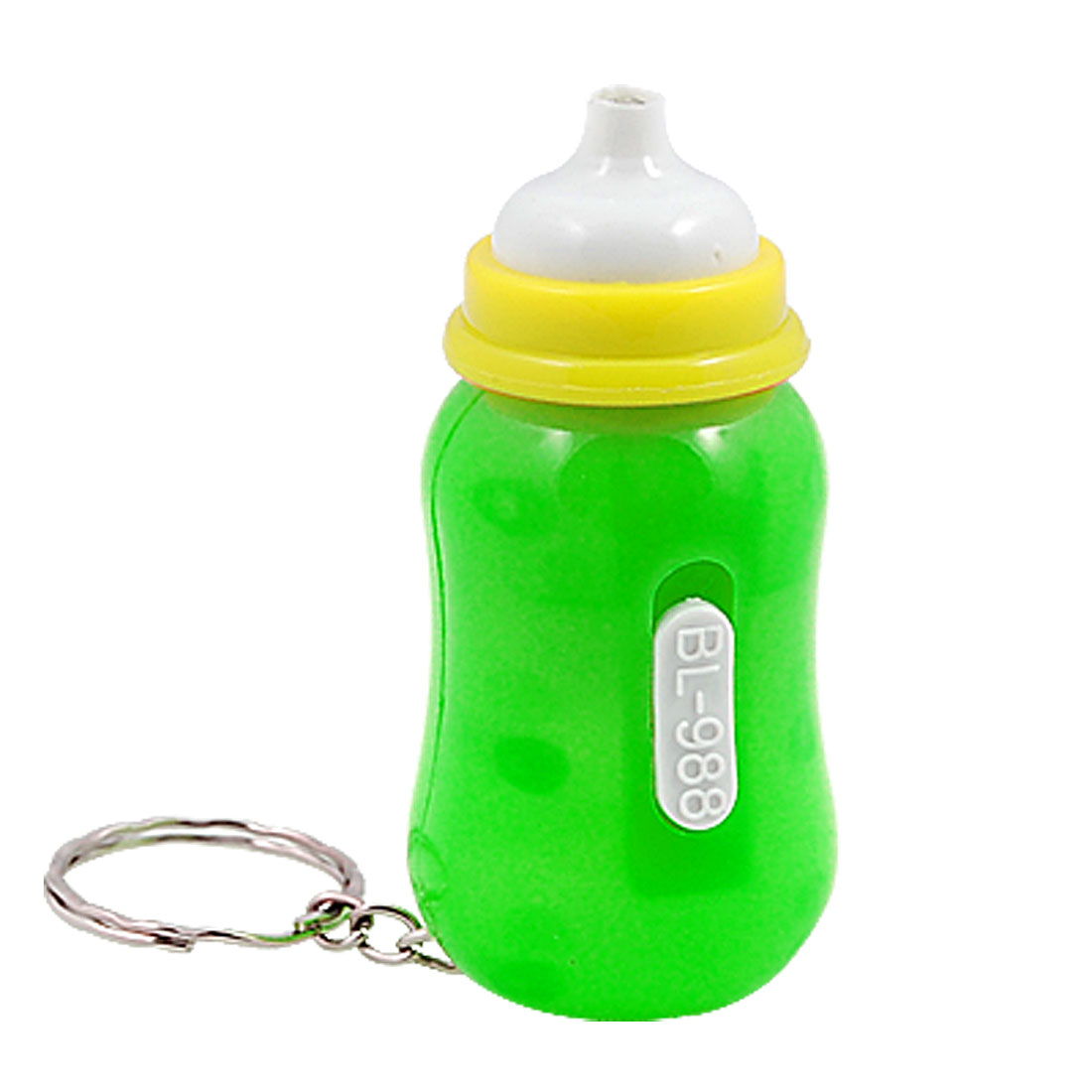 Raising Bottle Design LED Light Key Chain Key Ring Green