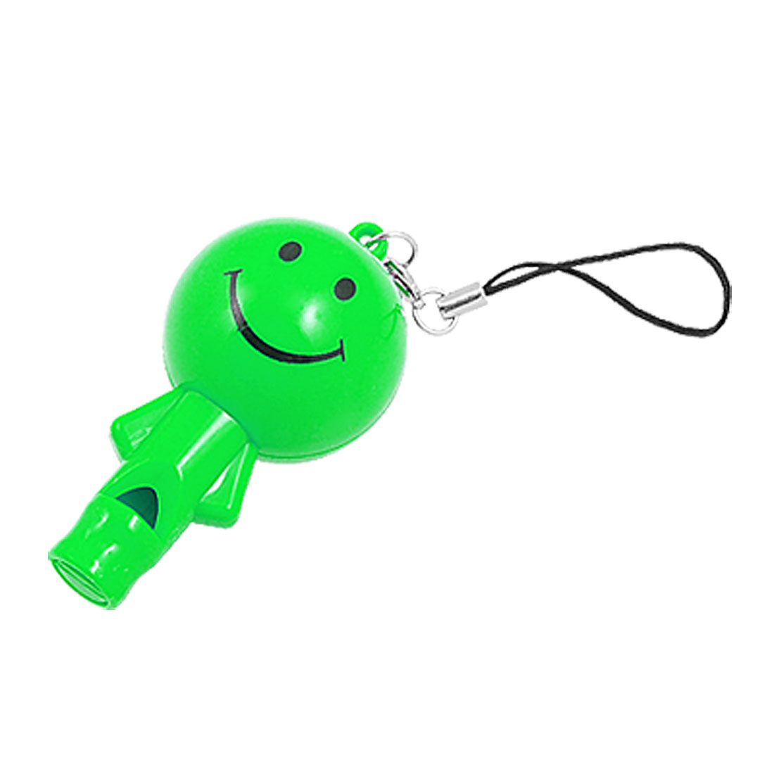Green Smiling Figure LED Bulb Cell Phone String Strap