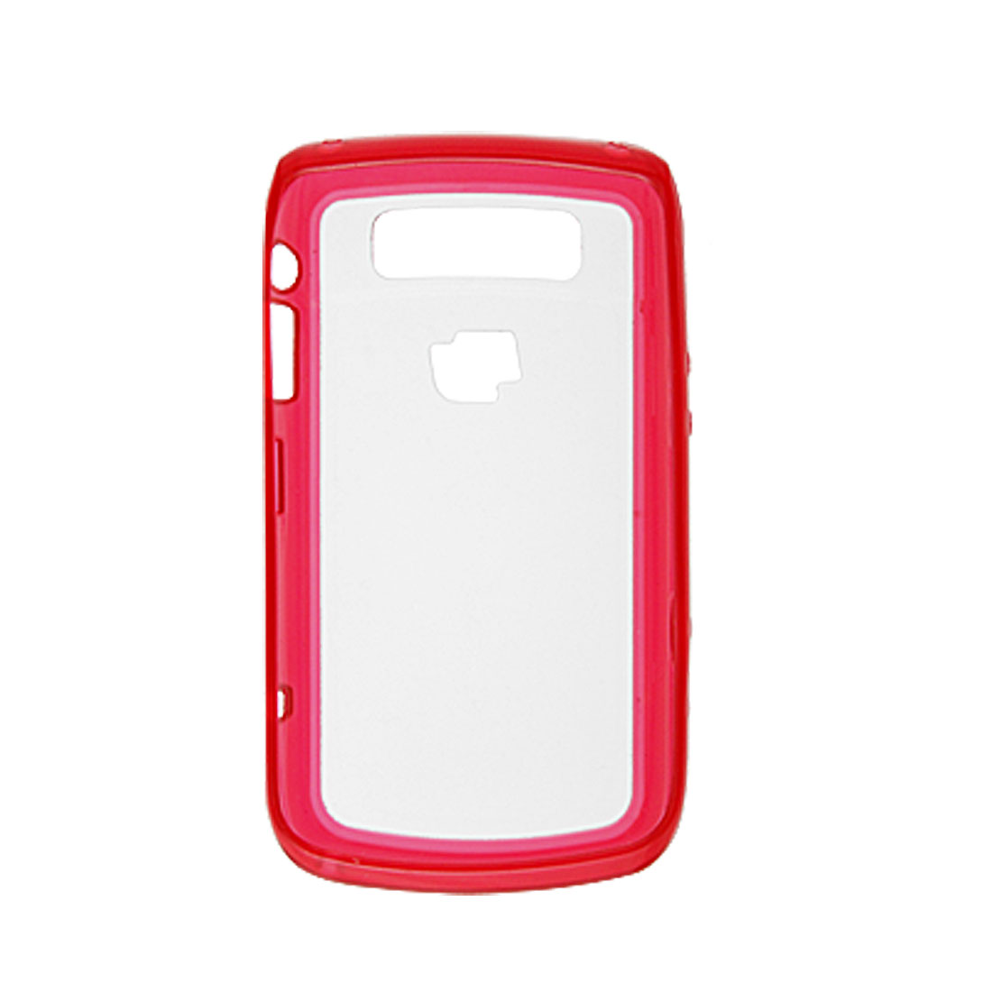 Clear Anti Glare Red Hard Plastic Cover for Blackberry 9700