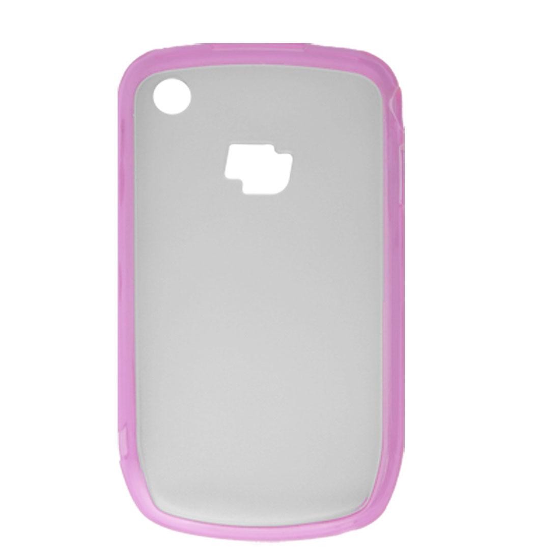Hard Plastic Clear Anti Glare Case Skin for Blackberry 8520