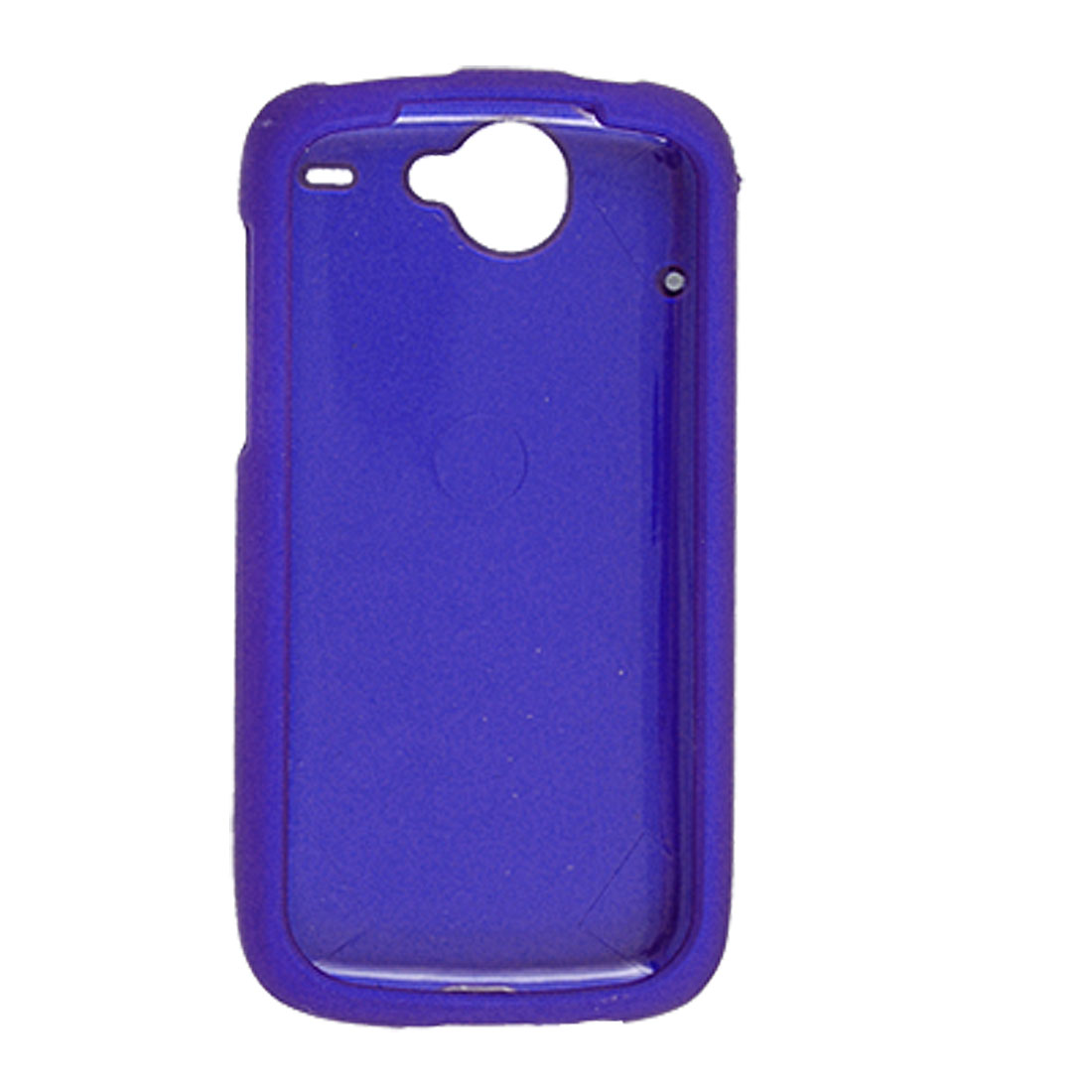 Blue Heart Rubberized Hard Plastic Case Cover for Google Nexus One