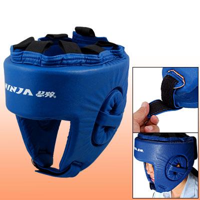 Blue Dipped Foam Boxing Karate Sparring Head Guard Helmet