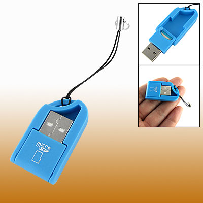 Maya Blue USB 2.0 T-Flash TF Micro SD Mini Card Reader