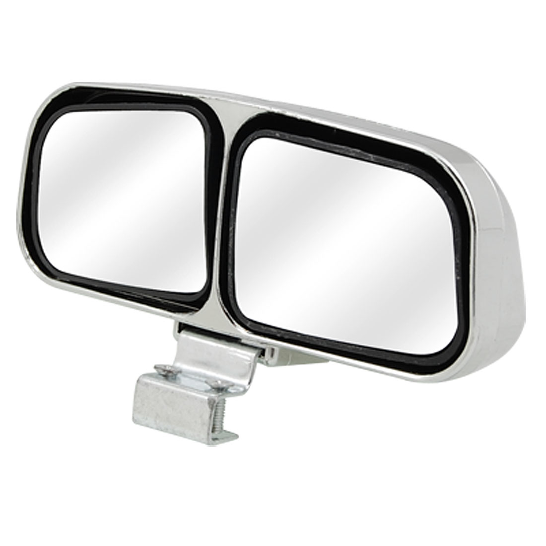 Silver Tone Plated 2 Convex Mirrors Car Auxiliary Rearview Blind Spot Mirror