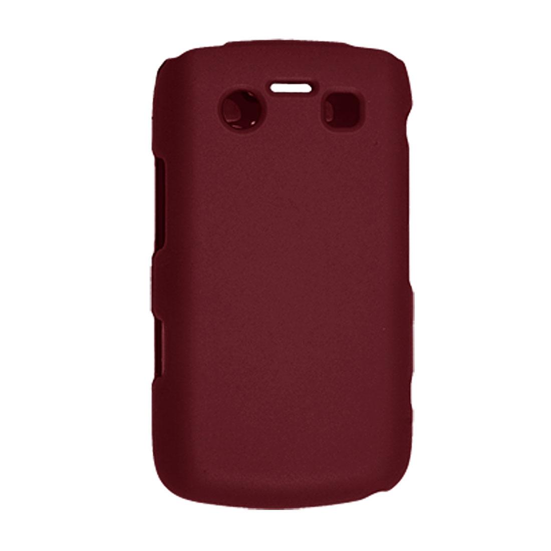 For Blackberry 9700 Hard Plastic Rubberized Dark Red Case Skin Shell
