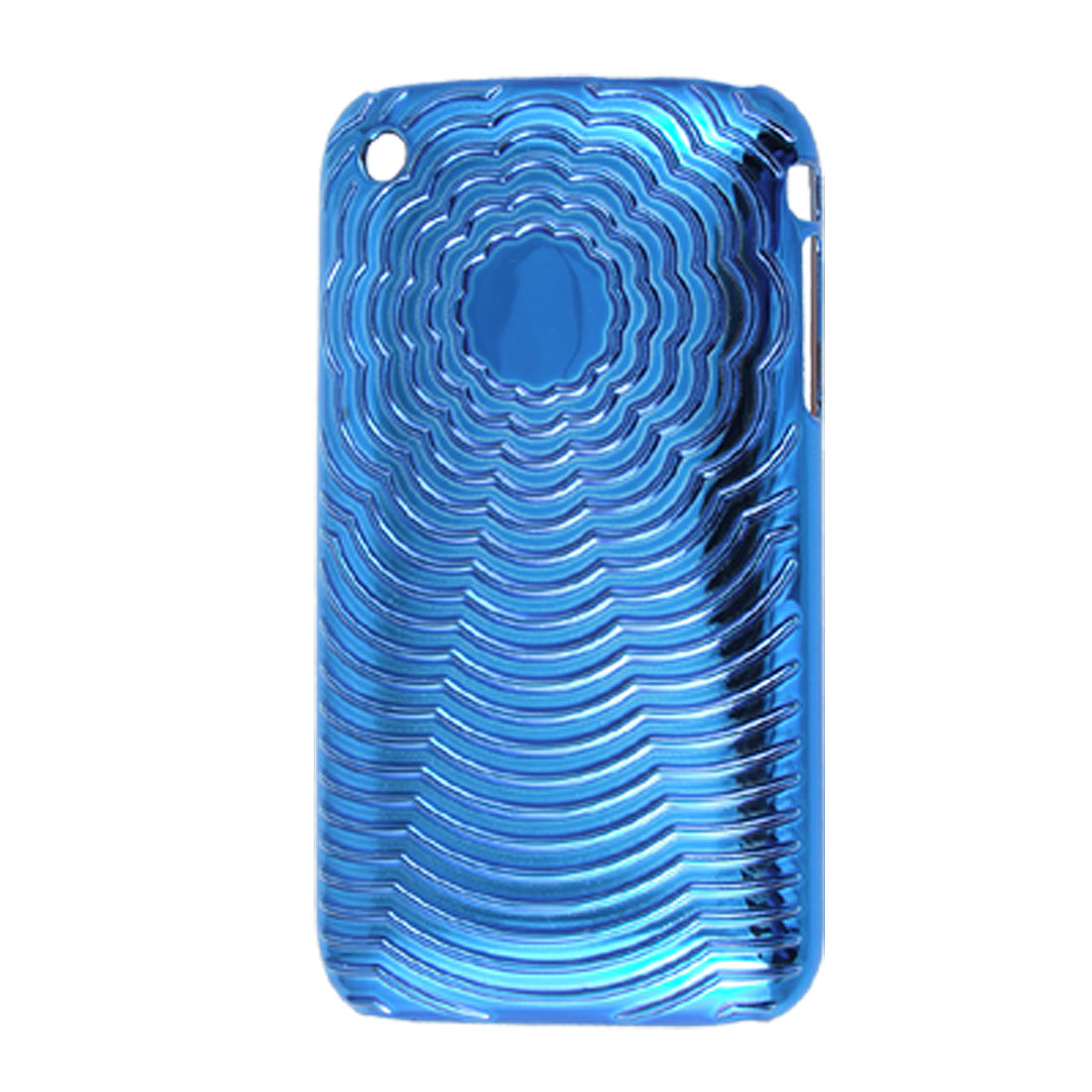 Blue External Antislip Hard Plastic Back Case Cover Skin for iPhone 3GS 3G