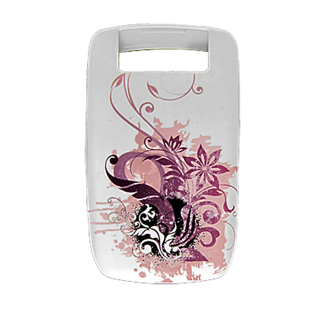 Rubberized Soft Plastic Floral Shell Case for Blackberry 8900