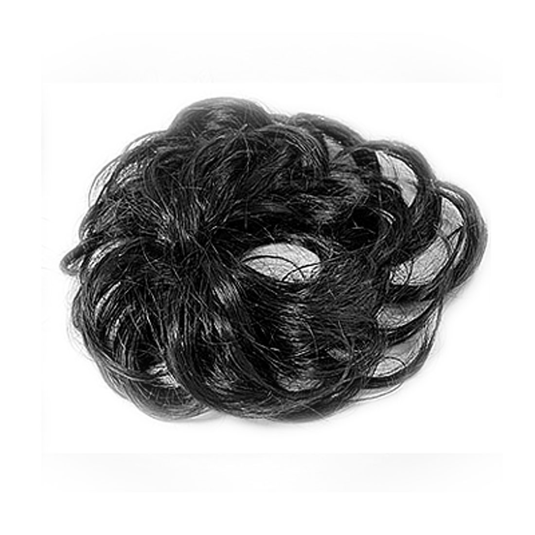Black Chignon Topknot Bun Hairpiece Wig for Ladies