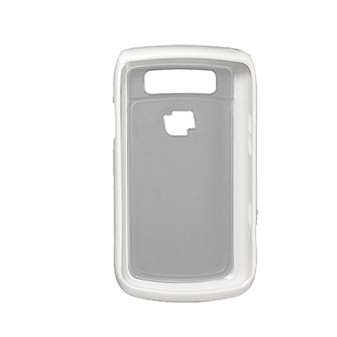White Clear Plastic Back Case Shell for BlackBerry 9700