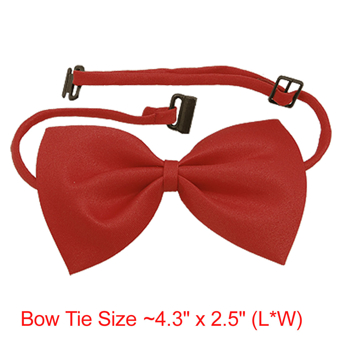 Dog Cat Red Bow Tie Bowtie Necktie Pet Adjustable Collar