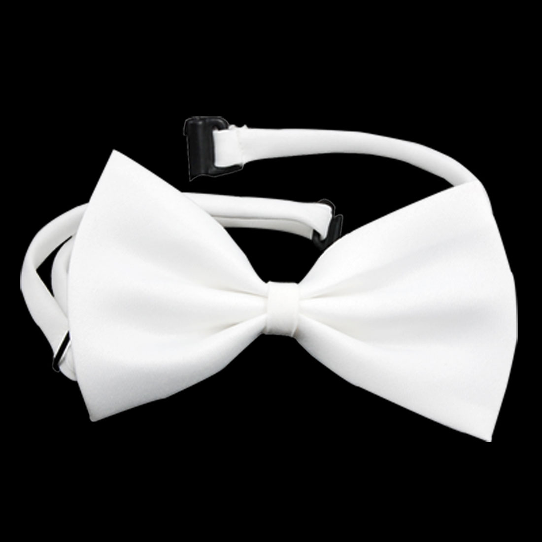 Dog White Bow Tie Necktie Pet Adjustable Bowtie Collar