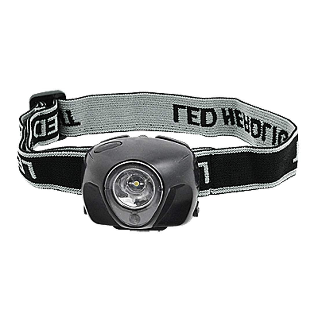 1 LED Battery Powered Adjustable Strap Headlamp Headlight Black