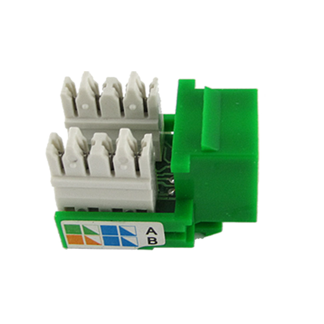 Green LAN Network CAT5e RJ45 Connector Module