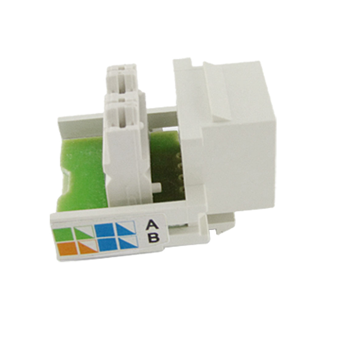 White Network Computer Connecting CAT3 Module Keystone