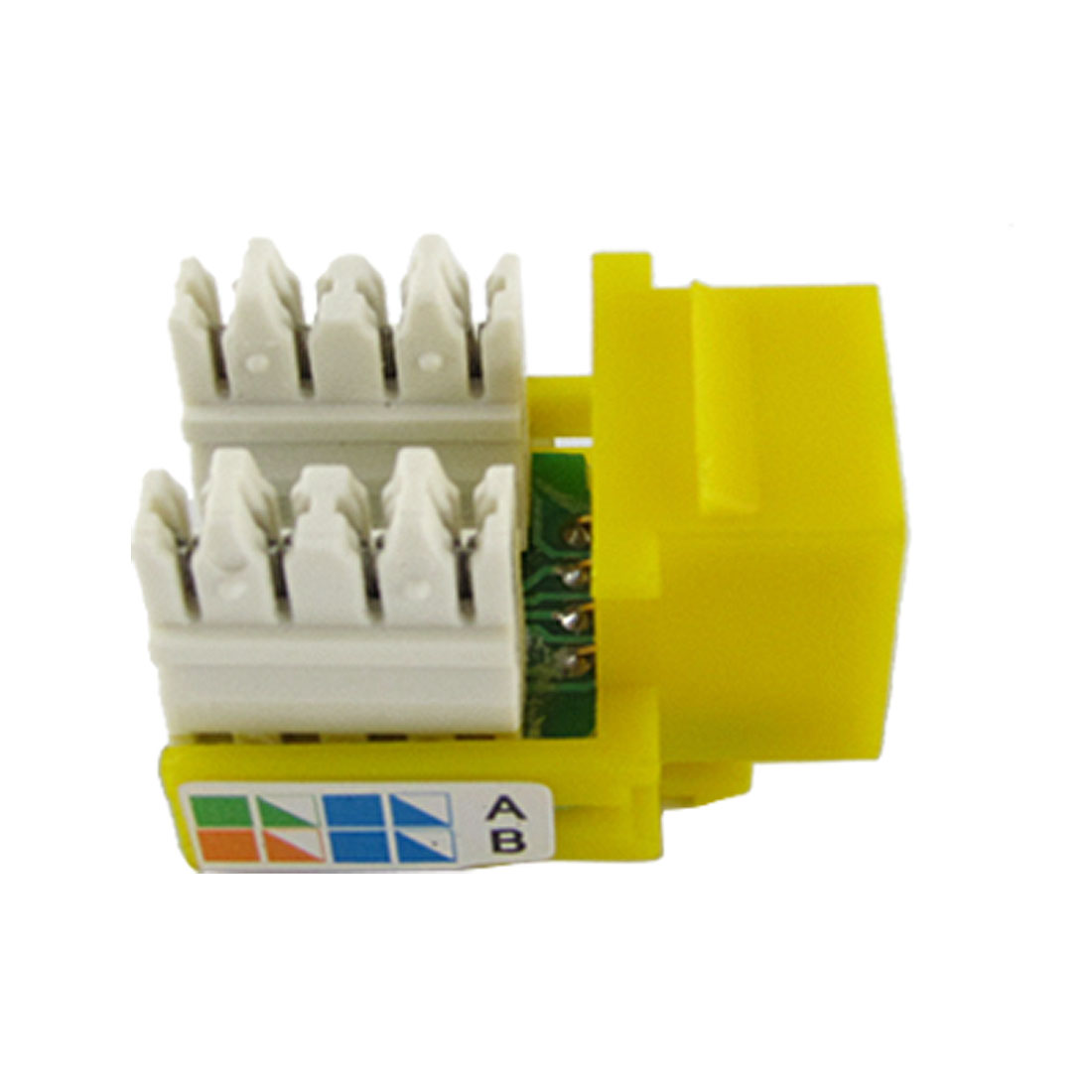 Yellow Network Computers Devices Connecting CAT5e RJ45 Jack
